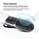 2019 SUNITEC BC920 Bluetooth Hands Free Car Kit, Connects with Siri & Google Assistant, Auto On Off, Handsfree Speakerphone Wireless in Car, 2W Powerful Speaker, Dual Link Connectivity & Visor Clip