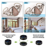 AiKEGlobal - Phone Lens with 9 in 1 Wide Angle Lens, Macro Lens, Fisheye Lens, 2X Telephoto Lens, CPL Lens, Starbrust and Kaleidoscope Lens Phone Camera Lens Kit for iPhone, Samsung, Most Smartphone