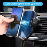 Wireless Car Charger Mount, 7.5W /10W Qi Fast Charging, Auto-Clamping Dashboard & Air Vent Phone Holder, Compatible Samsung Galaxy S10/S9/S9+/S8/S8+/S7/S6 Edge/Note 9/8 iPhone Xs Max/Xs/XR/X/8/8 Plus