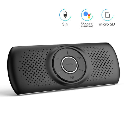 AGPTEK Bluetooth Visor Speakerphone with Siri & Google Assistant Support 2 Cell Phones Bluetooth Connection for Android & iOS (T826, Black)