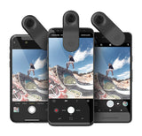 olloclip Multi-Device Clip with 2-in-1 Essential Lens Kit Includes Wide Angle + Macro Lenses - Compatible with iPhone, Pixel and Samsung Galaxy Smartphones + Selfie Bluetooth Remote Shutter
