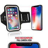 RevereSport iPhone X/XS Running Armband (Face Recognition Access). Sports Phone Holder Case for Jogging, Gym Workouts & Exercise (Small - Large Arms)