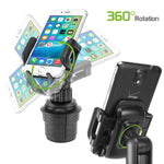 Cellet PH600 Car Cup Holder Mount, Adjustable Smart Phone Cradle for iPhone Xr/Xs/Xc/X/8/8 Plus, Samsung Note 9/8/5 Galaxy S9/S9+/S8/S8 Plus/S7  LG Q7+/Stylo 4/3/2/V35 ThinQ/Q6/G7 ThinQ/Aristo 2 Plus