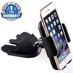 Bestrix Universal CD Phone Mount Cell Phone Holder for Car Compatible with All Smartphones up to 6.5""
