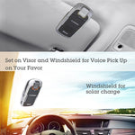 Avantree 18P Sunday Solar Charging Bluetooth Hands Free Visor Car Kit, for Handsfree Call, GPS, Music, Wireless in-Car Speakerphone, Connect Two Phones