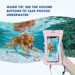 "Mpow 084 Waterproof Phone Pouch Floating, IPX8 Universal Waterproof Case Underwater Dry Bag Compatible iPhone Xs Max/Xr/X/8/8plus/7/7plus Galaxy s9/s8 Note 9/8 Google Pixel up to 6.5"" (Black, Pink)"