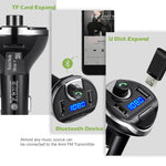 KeeKit Bluetooth FM Transmitter, Wireless in-Car FM Transmitter Radio Adapter Car Kit, Universal Car Charger with Dual USB Charging Ports, Hands-Free Calling for Smartphones