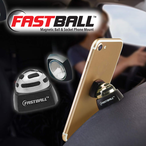 As Seen On TV Fastball Magnetic Car Cell Phone Mount/Holder by BulbHead – Universal 360 Degree Car Dashboard Cellphone Holder - Swivel to Perfect Viewing Position