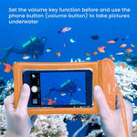 Waterproof Case, 3 Pack Cambond Universal Floating Waterproof Phone Case iPhone Waterproof Pouch Cell Phone Dry Bag Transparent PVC with Durable Lanyard for Device up to 6.5 inch, Blue White Orange