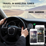 SAMMIX Bluetooth Receiver, Handsfree CSRA64215 4.2 Bluetooth Car MP3 3.5mm AUX HiFi Audio Music Receiver USB Charger Support AAC Aptx Aptx-ll