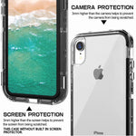 SKYLMW Case for iPhone XR,Shockproof Three Layer Protection Hard Plastic & Soft TPU Sturdy Armor Protective High Impact Resistant Cover for iPhone XR 2018(6.1 inch) for Men/Women/Girls/Boys,Clear