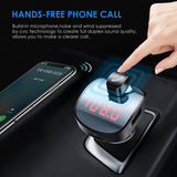 Bluetooth FM Transmitter, Wallfire Wireless Radio Transmitter Adapter Car Kit, Quick Charge QC3.0 with Dual USB Ports, Hands Free Calling for iPhone, Samsung, etc.
