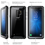 Samsung Galaxy S9+ Plus case, i-Blason [Ares] Full-body Rugged Clear Bumper Case with Built-in Screen Protector for Samsung Galaxy S9+ Plus 2018 Release (Grey/Black)