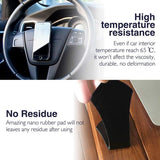 NOFDA 2pcs Magic Nano Rubber Pad Anti Slip Mat Sticker No Trace Car Mobile Phone Holder Lazy Bracket Pods Sticky Gel Pad Wholesale (Pack 2)