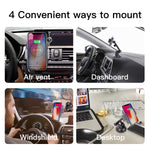 ROBOQI Automatic Wireless Car Charger, Qi-Certified Robotic Car Mount, Air Vent Phone Holder with Contact Sensor, Compatible with iPhone Xs/XS MAX/XR/X/8/8 + & Samsung Galaxy Note 9/S9/S8.