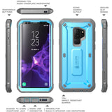 Samsung Galaxy S9+ Plus Case, SUPCASE Full-Body Rugged Holster Case with Built-in Screen Protector for Galaxy S9+ Plus (2018 Release), Unicorn Beetle PRO Series - Retail Package (Blue)