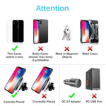 DOCA Magnetic Wireless Car Charger, QI Wireless Car Charger Air Vent Mount Holder for i Phone XR,XS,Max,X,8,8P, Samsung Galaxy Note 8 S8/S8 Plus S7 Edge and All Wireless Enabled Devices