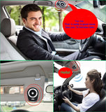 Car Speakerphone AUTO Power ON Wireless in Car Speaker Handsfree Sun Visor Car Kit Portable Enhance Bass Build in Mic Car Charger for All Smartphone Support Music Streaming, Calls