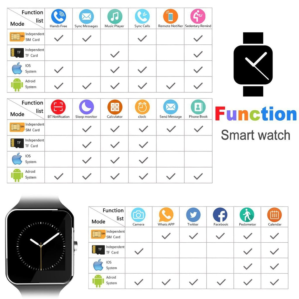 CNPGD Bluetooth Smart Watch(Partial Compatible for IOS