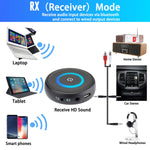 DIGMALL 2 in 1 Latest Bluetooth V5.0 Audio Transmitter Receiver with aptX Low Latency, Wireless 3.5mm AUX Adapter for TV PC Xbox Headphones Speakers Projector CD Player Home Stereo System with RCA