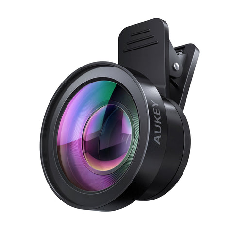 AUKEY Ora iPhone Camera Lens, 0.45x 120° Wide Angle + 15x Macro Clip-on iPhone Lens for iPhone 8, 7, 6, Samsung, Other Android Smartphones