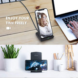Seneo Wireless Charger WaveStand 153 Qi-Certified 10W Fast Wireless Charger for Galaxy S10/S10+/S9/S8, 7.5W Compatible iPhone Xs/Xs Max/XR/X/8/8+, 5W for Google Pixel 3, LG V30 and More(No AC Adapter)