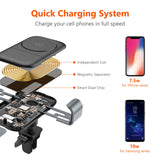 TORRAS Wireless Car Charger Mount, Auto-Clamping 7.5W / 10W Fast Cell Phone Charger Holder Compatible with iPhone Xs/Xs Max/XR/X / 8/8 Plus, Galaxy S10 / S10+ / S9 / S9+ / S8, More