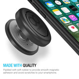 Maxboost Magnetic Car Mount, (3-Pack) Universal Flat Stick-on Dashboard Holder +Metal Plate/ADH-Tape for Phone iPhone X, iPhone 8 7 Plus,Galaxy s8 Note,HTC,Pixel,LG G6,GPS,Phablet (Work w/Most Case)