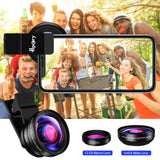 Hpory Phone Lens Kit Wide Angle and Macro Lens 2 in 1 Phone Lens for iPhone X 8 7 Plus Samsung iPhone Camera Lens