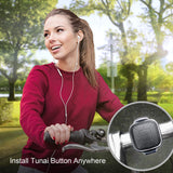 TUNAI Button Media Remote Control - Bluetooth 5.0 Wireless 6 Button Remote for iPhone and Android Smartphones - Play/Pause, Next/Last Track, Volume, Calls, Siri/Assistant, Camera and Video Recording