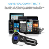 Car Charger, BliGli Bluetooth FM Transmitter, BT Receiver with Microphone, Hands -Free Calling, 3.4A Dual USB Ports for iPhone,Samsung and Android,Supports Call Number Announcement,Last Call Redial