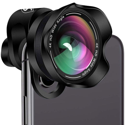 Phone Camera Lens Kit - Professional 2 in 1 Universal Set for iPhone, Samsung, Smartphones and Tablets - 110 Degree 4K HD Aspherical Wide Angle, 20X Macro Lens for Cell Phones