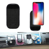 Reusable Sticky Pad Car, Radar Detector Dash Mat Anti-Slip Magic Pad Antiskid Holder for Phone Car Pads & Mats