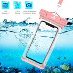 Universal Waterproof Case, Lansen Waterproof Phone Pouch Dry Bag Compatible with iPhone Xs/XR/XS Max/8/7/7 Plus/6S/6/6S Plus, Samsung Galaxy S9/S9 Plus/S8/S8 Plus/Note 8 6 5 4,HTC-[2 Pack]