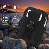 DOUN Outdoor Tactical Waist Bag EDC Molle Belt Waist Pouch Security Purse Phone Carrying Case for iPhone 8 plus Galaxy Note 9 S9 Or Less than 6.2 inches Smartphone - Black