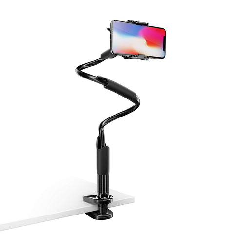 Phone Holder for Bed, Lamicall Cell Phone Holder Flexible : Gooseneck Arm 360 Clip Bracket Clamp Mount Stand for Phone Xs Max XR X 8 7 6 Plus 5 4, Samsung S10 S9 S8 S7 S6, Huawei More Smart Phones