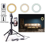 "Eocean 8"" Selfie Ring Light with Tripod for YouTube/Live Stream/Makeup, Mini Led Camera Ringlight for Vlog/Video/Photography Compatible with iPhone Xs/Max/XR 8/7 Plus/X/Android"