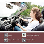 Bluetooth Speakers for Car Motion AUTO-ON, Wireless in-car Speakerphone, Bluetooth 4.1 Hands-Free Visor Car Kit Stereo Music Receiver for Safely Driving with Siri, Google Assistant Voice Command