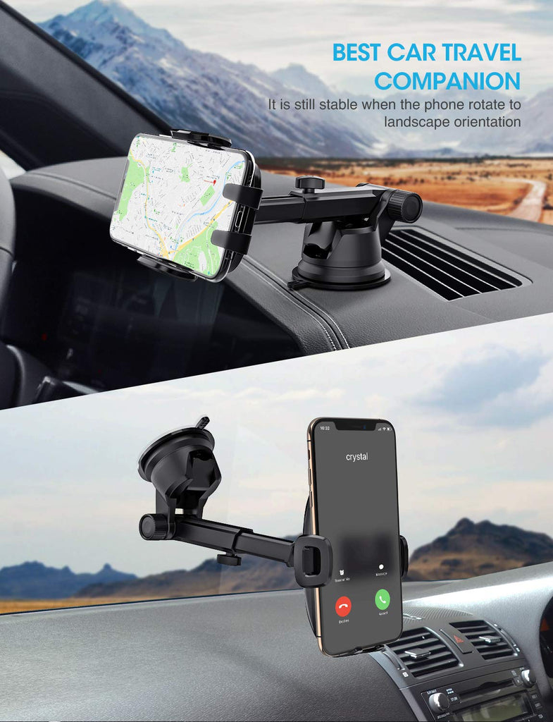 Google Mpow Car Mount Holder Huawei Galaxy S10//S9//S8//S7 One Plus Windshield Car Phone Holder and More Washable Gel Pad Compatible iPhone XR//XS Max//X//8 Universal Dashboard Car Phone Mount Moto