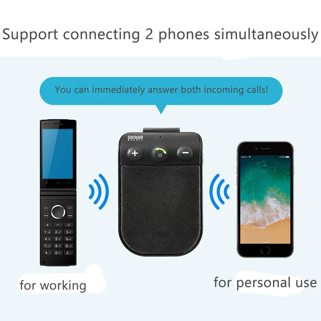 Bluetooth Hands Free Car Kit, SUNITEC Bluetooth HandsFree Car