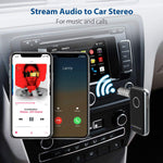 Avantree CK121 V4.1 Bluetooth Receiver for Car and Home Audio, Portable Wireless Audio Adapter 3.5mm Aux for Music Streaming Stereo System, Speaker, Headphones, Hands-Free Car Kit with Microphone