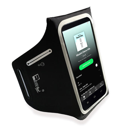 iPhone Plus 8/7 Waterproof Running Armband for Small to Large Arms. Designed for Secure No Bounce Comfort, The Exercise Phone Holder is Perfect for Runners, Gym Workouts and Sports