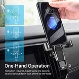 Cell Phone Holder for Car, Ainope Gravity Car Phone Mount Auto-Clamping Air Vent Car Phone Holder Universal Car Phone Mount Compatible iPhone Xs MAX/X/XR/8/7, Galaxy Note 9/S10 Plus/S9 - Black (Divi)