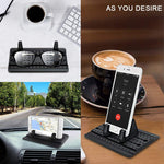Cell Phone Car Holder, Car Phone Mount Anti Slip Silicone Dashboard Car Pad Mat for 3.5-7 inch Smartphone or GPS Devices(Black)