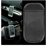 Anti-Slip Radar Detector Dash Mat, Non Slip Sticky Dashboard Pad Cell Phone GPS Holder. (Clear)