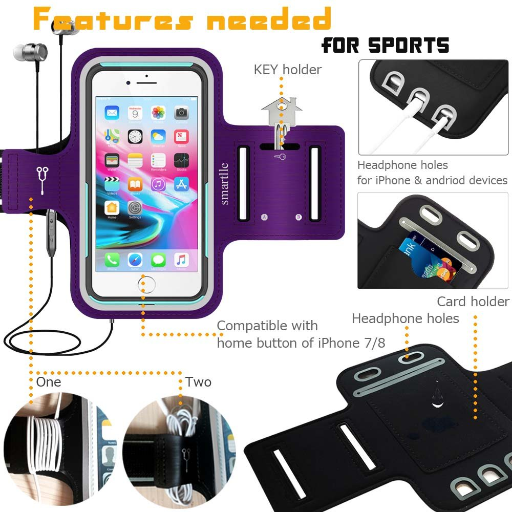new product 68e9d fb1bf iPhone & Phone Armband Running Workout Holder for iPhone Xs Max, XR ...