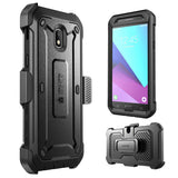 Galaxy J7 2018 Case, SUPCASE Unicorn Beetle Pro Series Full-Body Rugged Holster Case with Built-in Screen Protector for Galaxy J7 (J737) 2018 Release,Not fit (J7 Pro 2017 SM-J730)(Black)