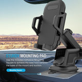 Maxboost DuraHold Series Car Phone Mount for iPhone Xs Max XR X 8 7 6s Plus SE,Galaxy S10 S10+ S10e S9 S8 Edge,Note 9 8,LG G7,Pixel,HTC[Washable Strong Sticky Gel Pad/Extendable Holder Arm (Upgrade)]