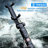 YOKKAO Upgraded Waterproof Selfie Stick Bluetooth Tripod Selfie Stick Extendable for iPhone Xs MAX iPhone 8 iPhone 8 Plus iPhone 7 Plus Galaxy Note S9 Plus S8 S7 S6 Huawei