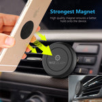 WizGear Universal Air Vent Magnetic Phone Car Mount Holder with Fast Swift-Snap Technology for Smartphones and Mini Tablets, Black